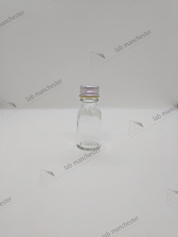 14ml Bijou (clear glass) (w/metal caps) (288pk) - Lab Manchester